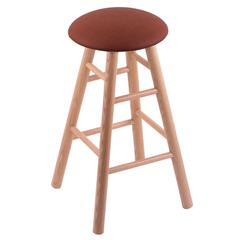 Oak Round Cushion Counter Stool with Smooth Legs, Natural Finish, Rein Adobe Seat, and 360 Swivel
