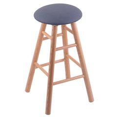 Oak Round Cushion Bar Stool with Smooth Legs, Natural Finish, Rein Bay Seat, and 360 Swivel