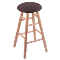 Oak Round Cushion Extra Tall Bar Stool with Turned Legs, Natural Finish, Axis Truffle Seat, and 360 Swivel