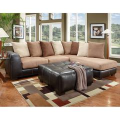 Flash Furniture Exceptional Designs by Flash Sea Rider Saddle Microfiber L-Shaped Sectional