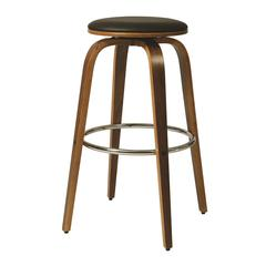 Pastel Furniture Yohkoh Swivel Barstool, PU Black