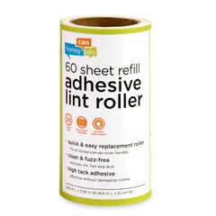 6-Pack Of 60 Sheet Lint Roller Refills, Green Handle