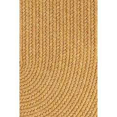 """Rhody Rug Solid Vintage Gold Wool 18"""" x 36"""" Slice"""