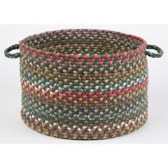 "Rhody Rug Country Jewel Emerald 18"" x 12"" Basket"