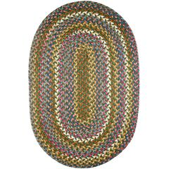 Rhody Rug Country Jewel Emerald 2X6 Oval