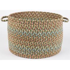 """Rhody Rug Cypress Olive 18"""" x 12"""" Basket"""