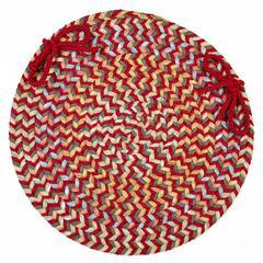 """Rhody Rug Cypress Brilliant Red 15"""" Chair Pad"""