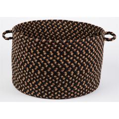 "Rhody Rug Easy Living Charcoal 18"" x 12"" Basket"
