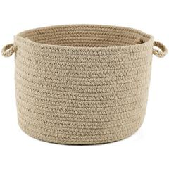 "Happy Braids Solid Sand Beige 18"" x 12"" Basket"