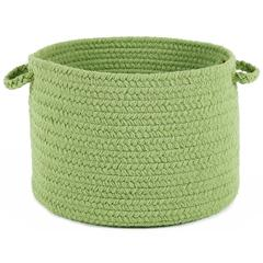 "Happy Braids Solid Lime 18"" x 12"" Basket"