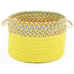 "Kids' Isle Yellow Banded 18"" x 12"" Basket"