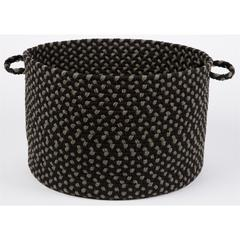 "Manhattan Black Satin 18"" x 12"" Basket"