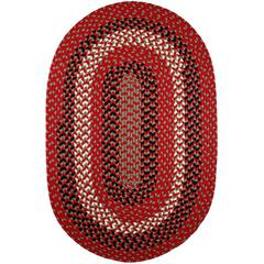 Rhody Rug Manhattan Red Brick 8X11 Oval