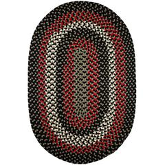 Rhody Rug Manhattan Black Satin 4X6 Oval