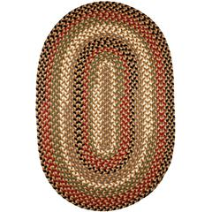 Rhody Rug Mayflower Natural Earth 7X9 Oval