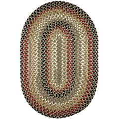 Rhody Rug Mayflower Forest Green 2X8 Oval