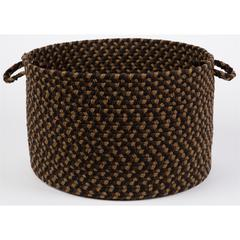 "Rhody Rug Mayflower Brown Fudge 18"" x 12"" Basket"