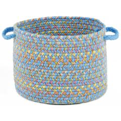 "Playtime Aqua Blue Multi  18"" x 12"" Basket"