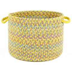 "Playtime Yellow  Multi  14"" x 10"" Basket"