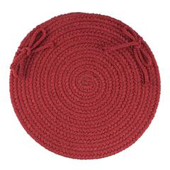 "Rhody Rug WearEver Colonial Red Poly 15"" Chair Pad"