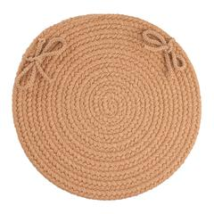 "Rhody Rug WearEver Camel Poly 15"" Chair Pad"