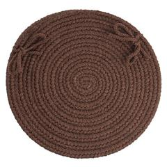 "WearEver Brown Poly 15"" Chair Pad"