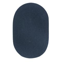 WearEver Navy Poly 3X5 Oval