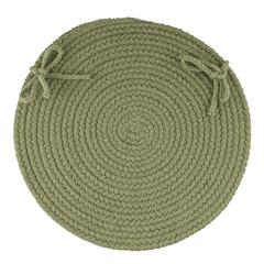 "Rhody Rug WearEver Olive Poly 15"" Chair Pad"