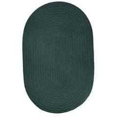 Rhody Rug WearEver Spruce Green Poly 2X6 Oval
