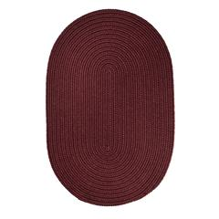 Rhody Rug WearEver Burgundy Poly 4X6 Oval