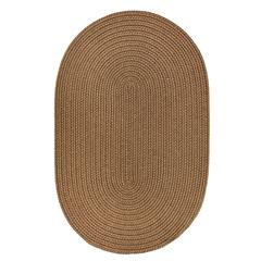 Rhody Rug WearEver Lt. Brown Poly 5X8 Oval