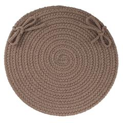 "Rhody Rug WearEver Dark Taupe Poly 15"" Chair Pad"