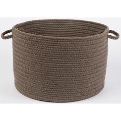 "WearEver Dark Taupe Poly 18"" x 12"" Basket"