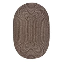 WearEver Dark Taupe Poly 8X11 Oval