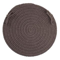 "Rhody Rug WearEver Brown Velvet Poly 15"" Chair Pad"