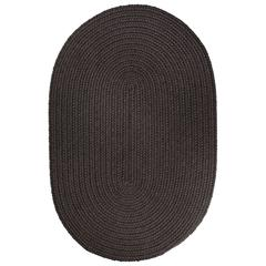 Rhody Rug WearEver Brown Velvet Poly 10X13 Oval