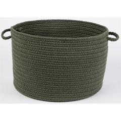 "WearEver Dark Sage Poly 18"" x 12"" Basket"