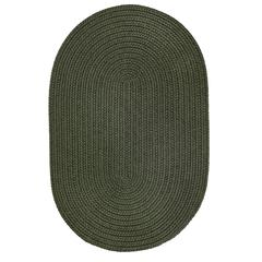 Rhody Rug WearEver Dark Sage Poly 2X6 Oval