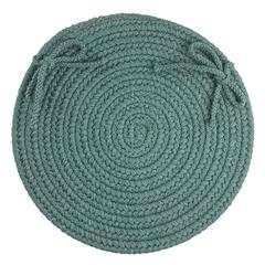 "Rhody Rug WearEver Teal Poly 15"" Chair Pad"