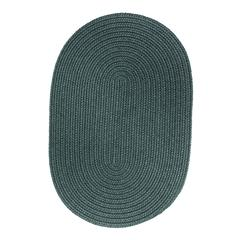 Rhody Rug WearEver Teal Poly 2X4 Oval