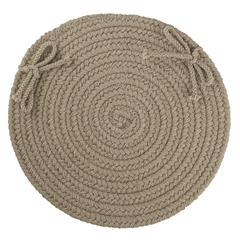 "Rhody Rug WearEver Moss Green Poly 15"" Chair Pad"