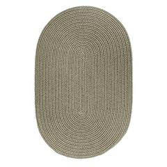 Rhody Rug WearEver Moss Green Poly 2X8 Oval