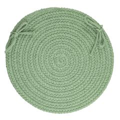 "Rhody Rug WearEver Celadon Poly 15"" Chair Pad"