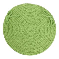 "Rhody Rug WearEver Key Lime Poly 15"" Chair Pad"