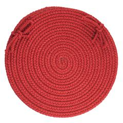 "WearEver Brilliant Red Poly 15"" Chair Pad"