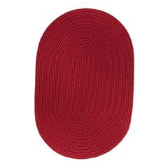 Rhody Rug WearEver Brilliant Red Poly 8X11 Oval