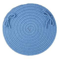"WearEver French Blue Poly 15"" Chair Pad"