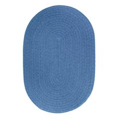 Rhody Rug WearEver French Blue Poly 2X4 Oval