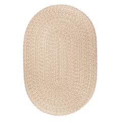 Solid Sand Wool 2X6 Oval