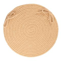 "Solid Wheat Wool 15"" Chair Pad"